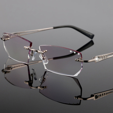 Men rimless glasses, prescription glasses fashion men's business, complete optical glasses, myopia, hyperopia YJ12