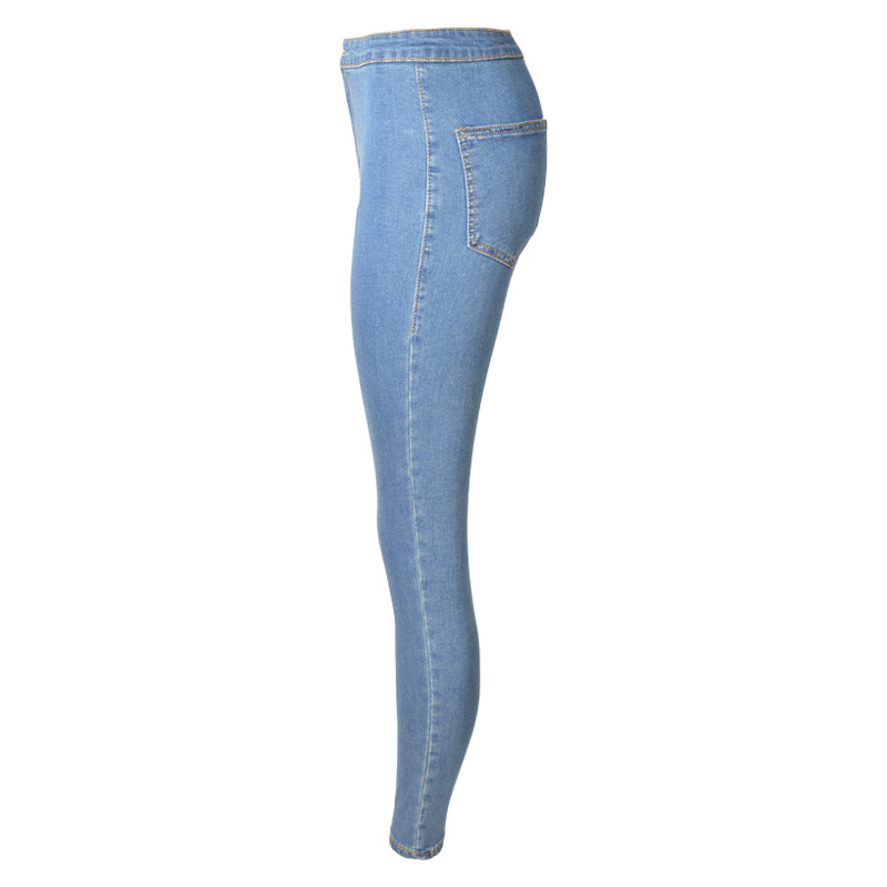 2019 Autumn New Style European And American Fashion, Height, Elasticity, Washed And Bottled Jeans