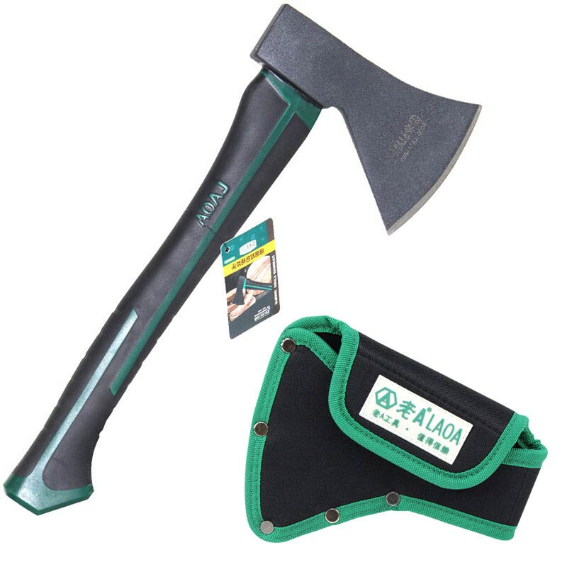 LAOA Woodworking Axe Outdoor Hunting Carpenter <font><b>Axes</b></font> Camping <font><b>Tools</b></font> With bag image