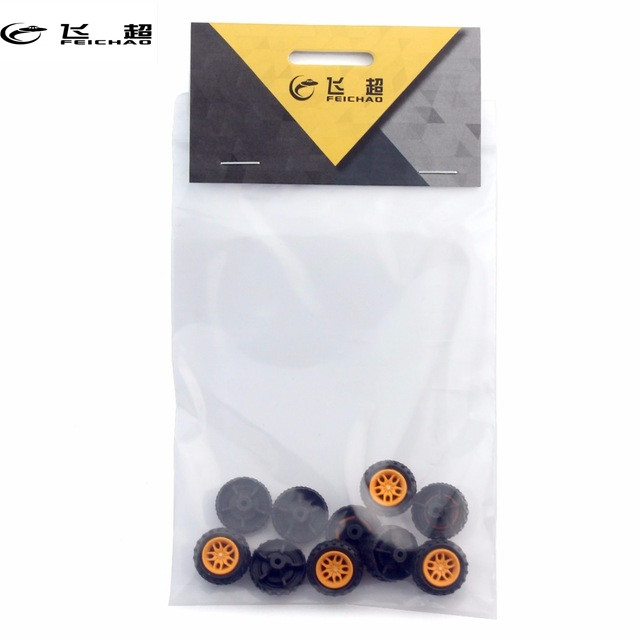 feichao 10pcs Mini Wheels 2*18mm DIY RC Electronic Toy Kit Plastc Wheel Small technology Production Item(China)