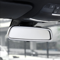 ABS Chrome for Mercedes Benz GLC 2016 2018 car front Interior View Mirror Decoration strip cover trim auto accessories styling