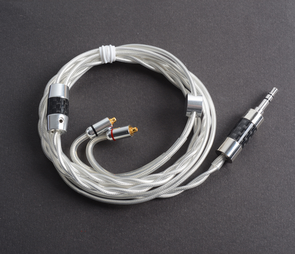 Hand Made DIY Earphone Upgrade Cable 7N 8 Cores MMCX Hifi Single Crystal Silver Plated Cord for Shure SE846 SE535 SE215 UE900 LA areyourshop 5pair black silver rhodium plated earphone pin atl style for mmcx um60 ue900 se535 se215