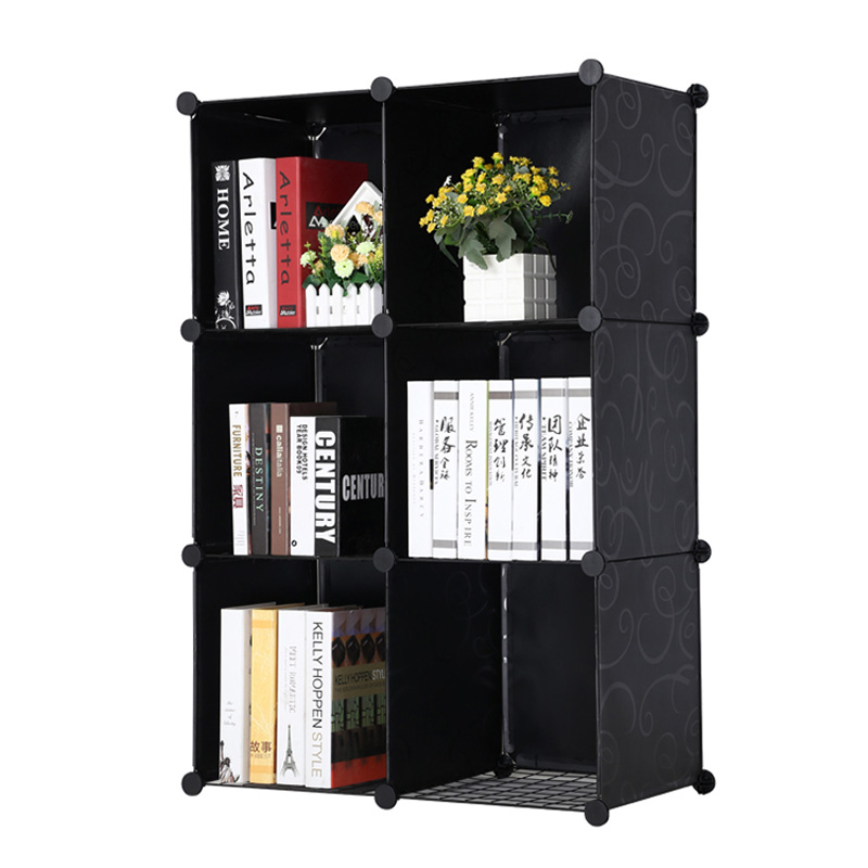 costway simple resin plastic bookshelves diy 6 grid portable bedroom storage shelves organizer bookcase boekenkast librero w0235 in bookcases from furniture