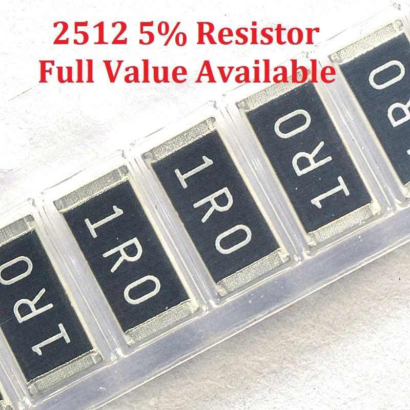 100 Buah SMD Resistor Chip 2512 1.5R/1.6R/1.8R/2R/2.2R Resistance 5% 1.5/1.6 /1.8/2/2. 2/Ohm Resistor 1R5 1R6 1R8 2R2 Gratis Pengiriman