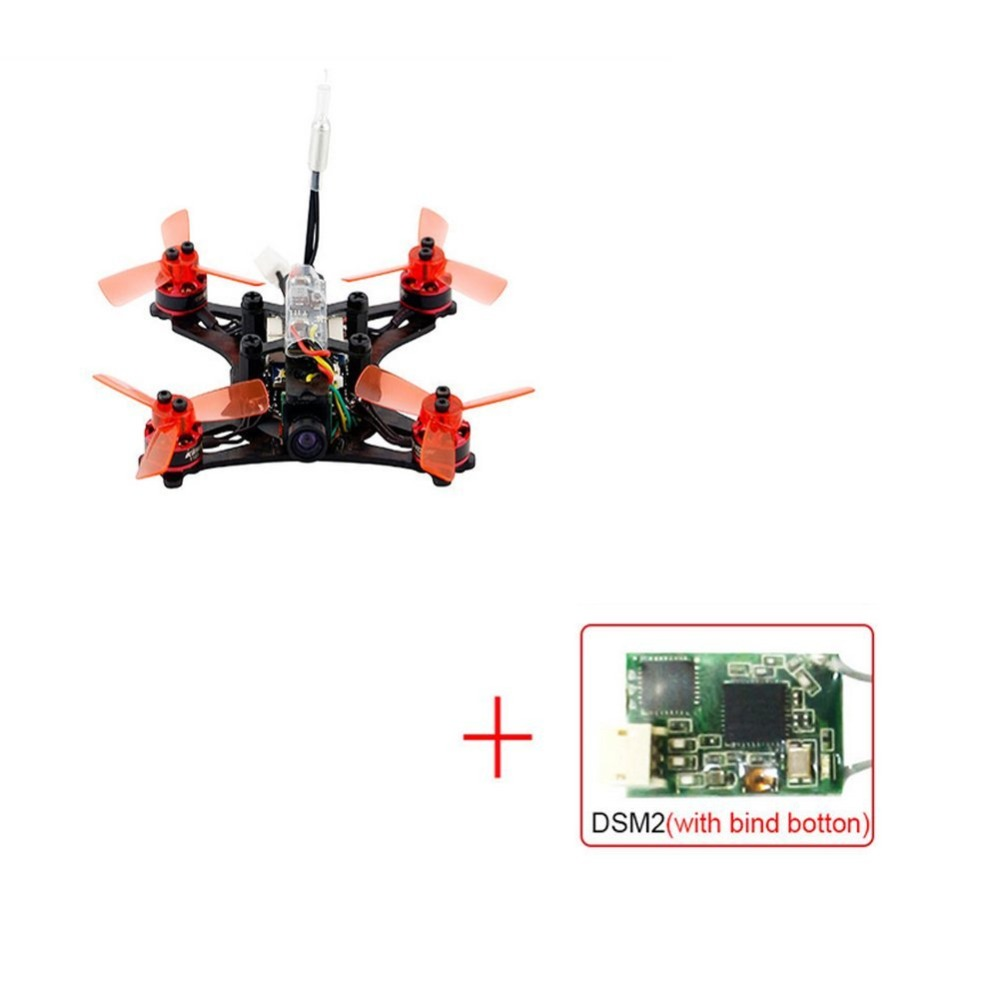 RC Racing Drone 90GT 4CH with DSM/2 Receiver FPV 800TVL Camera Brushless Drone Mini Quadcopter PNP Version F19932 mini 90gt pnp 4ch brushless drone fpv 800tvl camera rc racing with frsky ac800 receiver brushless kingkong quadcopter f19933