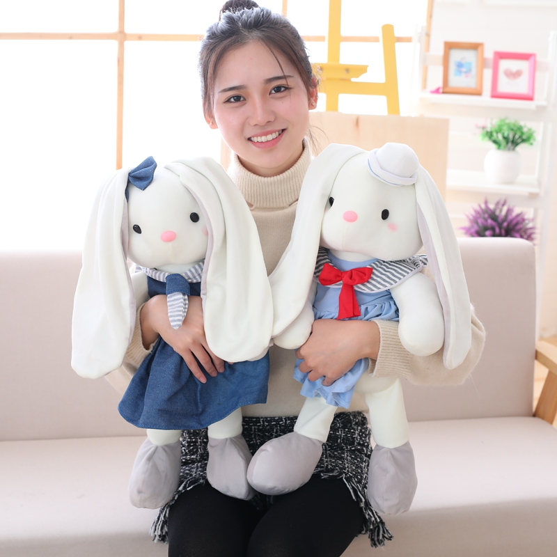 Kawaii Rabbit Bear Plush Toy Stuffed Animal Toy Soft Appease Baby Doll Kids Baby Girls Birthday Gift 40/60cm