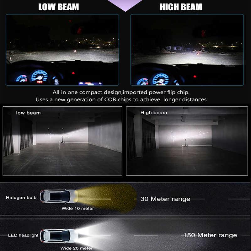 BraveWay LED Bulb for Motorcycles Led Ice Bulb H4 H7 H11 Led Headlight HB3 HB4 12000LM 6500K 80W 12V Car Light(LED) Diode Lamps
