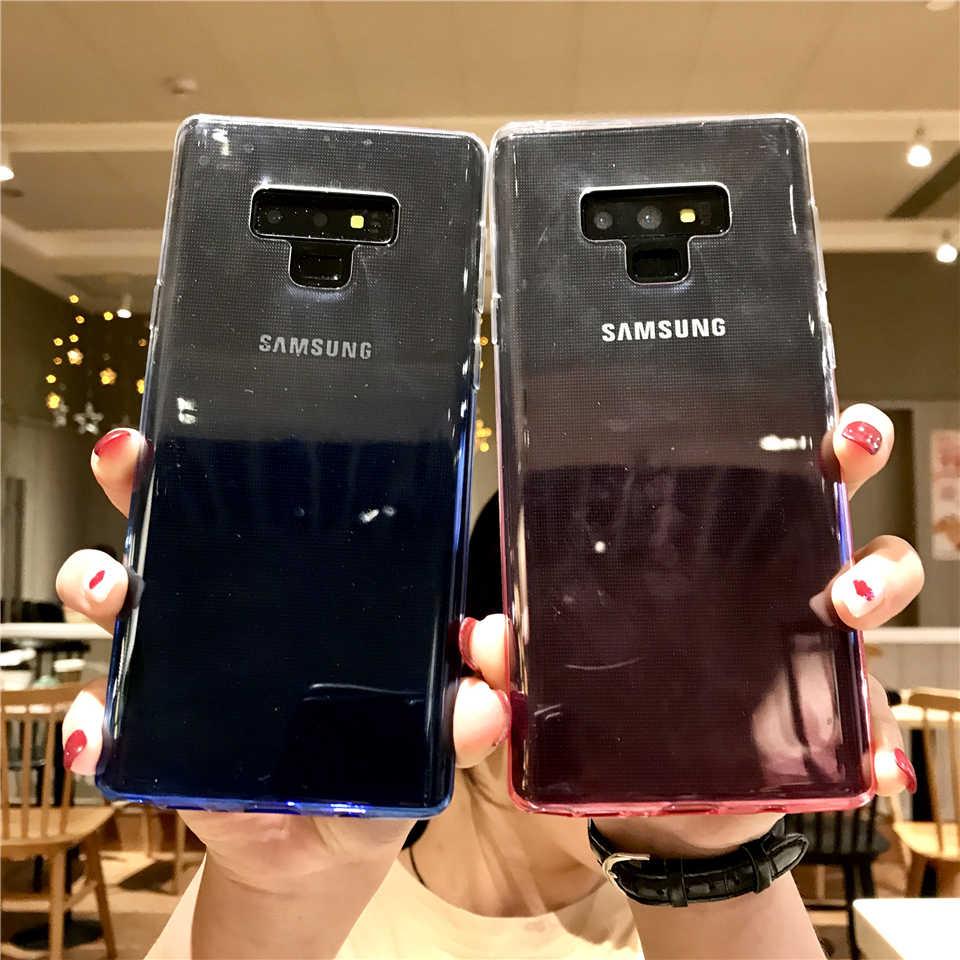 Colorful Rainbow Caso TPU Capa Case Para Samsung Galaxy Note 9 8 S10 S10E S8 Plus S9 A5 A7 2017 a6 J4 J6 J2 Pro 2018 Casos Suaves