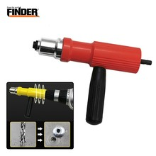 FINDER Electric Pull Rivet Conversion Tool Nut Insert Riveting Adapter Gun Set Power Cordless Drill Hand Riveter Nail Accessory electric riveter conversion head blind riveter adapter mini rivet tool suitable working electric drill extension to riveter