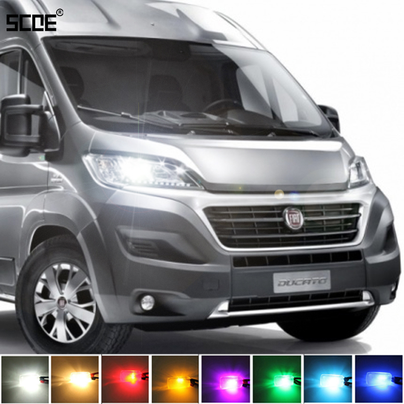 For Fiat Ducato XL & Free Time Ducato Bus SCOE 2X 12SMD LED Front Parking Light  Front Side Marker Light Source Car Styling