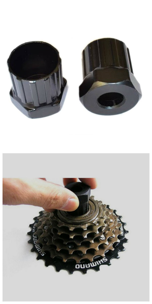 Pro Bicycle Cassette Flywheel Socket Freewheel Lockring Remover Bike Hand Tool