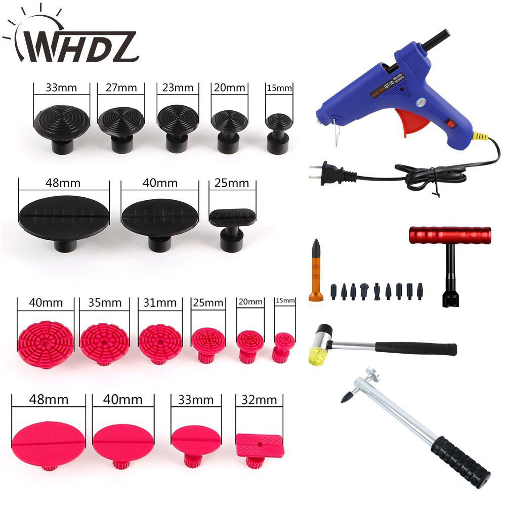 42pcs Auto Body Paintless Dent Removal Repair Tools Kits Dent Lifter Slide Hammer Tap Down PDR Line Board With Tool Bag (6)
