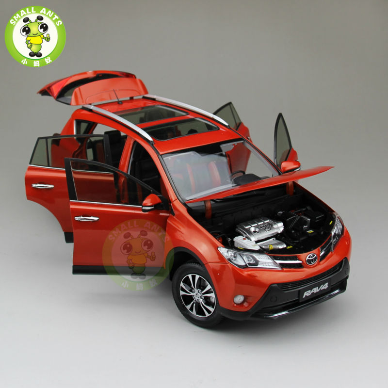 1:18 Scale Toyota RAV4 Diecast SUV Car Model Toys for gifts collection hobby Orange
