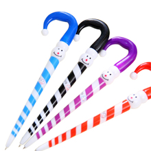 1pcs/lot Cartoon Umbrella Funny Expression Christmas Snowman Hat Ballpoint Pen Signature Pen School Supplies Papeleria expression matchstick style plastic ballpoint pen white yellow