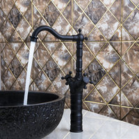 Ouboni Kitchen Faucets Torneira Diamond Handle Swivel 360 Oil Rubbed Black Bronze 97110 Sink Lavatory Faucets