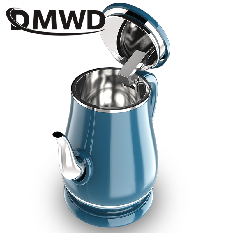 DMWD 1.8L Long Spout Mouth Electric Kettle Hot Water Quick Heating Stainless Steel Auto Power-off Boiler Teapot Heater 1500W EU