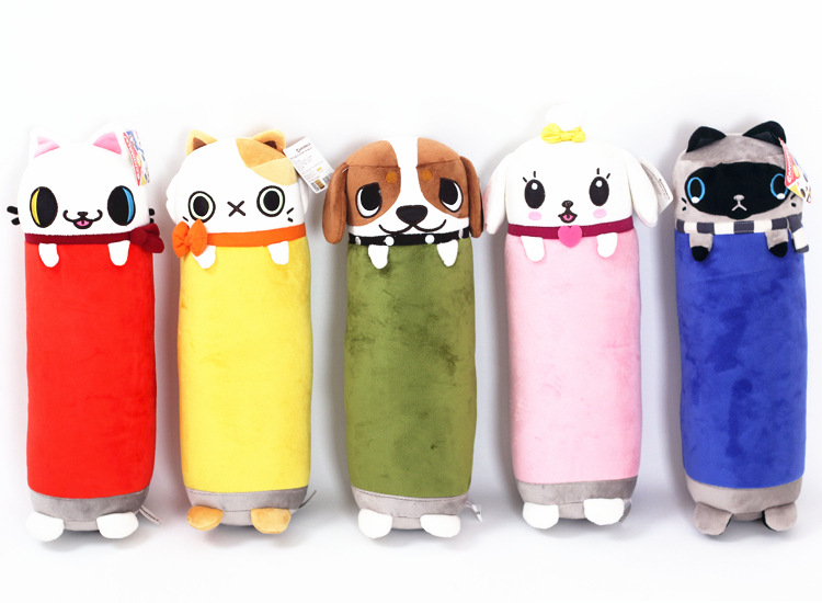 New Arrive 1Pc 42Cm 5 Colors Cylinder Plush Cat Pillow Car Cushion Creative Stuffed Cute Pussy Nap Lovely Cushion Toy Girls Gift lovely hellokitty plush toy creative plush pillow donut cushion office nap cushion sofa