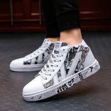 Graffiti Women Sneakers Cool Shoes High Top Boots Woman White Shoes High Top Running Shoes for Men Women Size 34 - 45