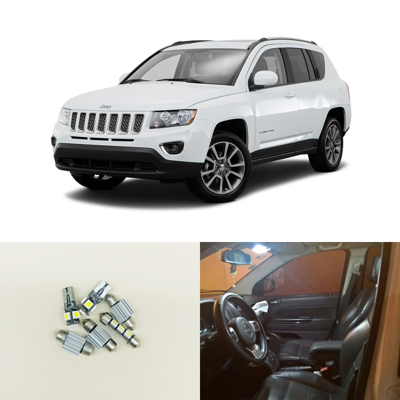 Automobiles & Motorcycles Tcart 6pcs X Free Shipping Error Free Led Interior Light Kit Package For Jeep Compass Accessories 2012-2016