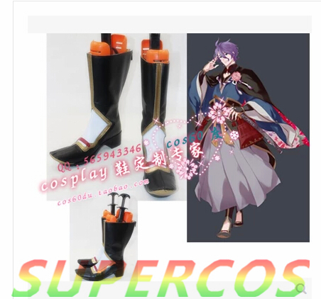 Free Shipping! Touken Ranbu Online Kasenkanesada Cosplay Shoes Boots Professional Handmade!Perfect customized for you!