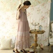 f4469ca5b97 LYNETTE S CHINOISERIE Summer Original Design Women Vintage Handmade Beading  Mori Girls Lace Patchwork Sleeveless Dresses