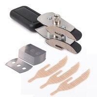 FOSHIO Car Wrap Cut Double headed Teflon Vinyl Cutter+10Pcs Blade Wall Paper Foil Film Car Sticker Cutting Tools Utility Knife