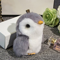 Cute Mini Pompon Penguin Keychain Trinket Pom Pom Rabbit Fur Doll Women Bag Key Chain Car Keyring Chaveiro Jewelry New Year Gift