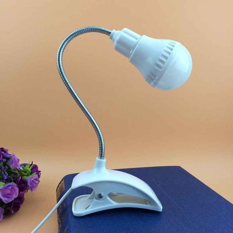 USB Lâmpada Led Noite luz da Noite Criativo Luzes de Estudo dobrável proteção para os olhos Levou Luz do Quarto Da Lâmpada de Mesa com clipe