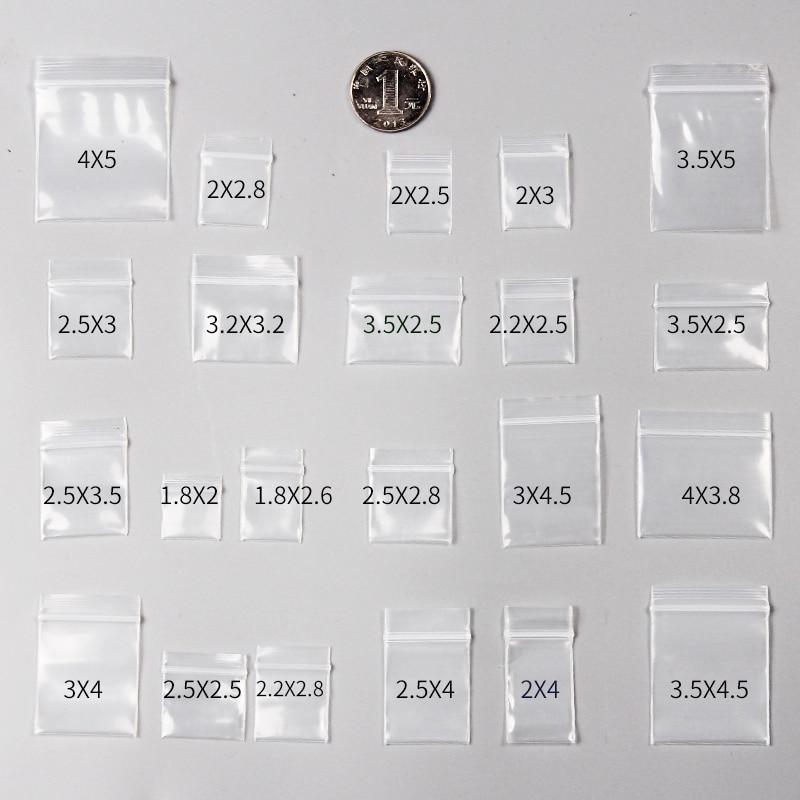 100pcs Mini Zip Lock Bags Plastic Packaging Bags Small