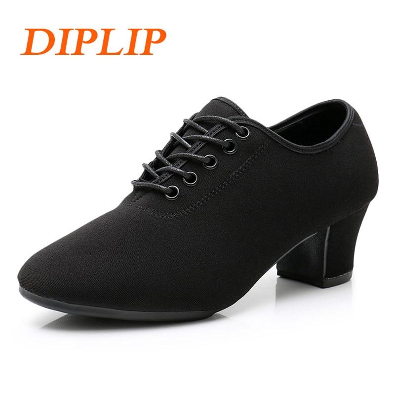 2980be0a73173 DIPLIP 3.5 5 cm Teacher Shoes Oxford Sneakers Latin Dance ShoesTango Salsa  Girls