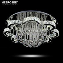 New LED Modern Chandelier Crystal Lamps Round Flower Light Fixture Lustre Living Room Lampadario Lights for Hotel
