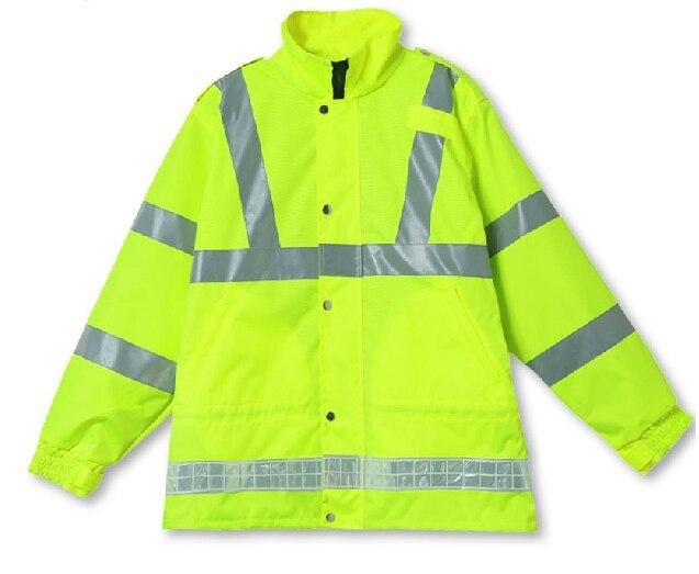 Светоотражающие безопасности куртка водонепроницаемый пальто дождя рабочего движения одежда защитная одежда C2133 бесплатная доставка