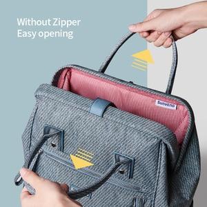 Image 3 - Sunveno sac à couches, sac à couches étanche de grande capacité, à couches pour maman, sac à dos de voyage pour maternité, sacoche à main dallaitement, nouveauté