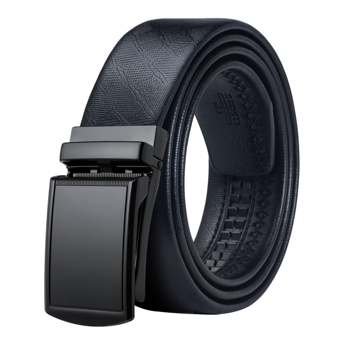 DiBanGu Brand Automatic Buckle Luxury Leather Belts for Men Formal Suit 110-150cm long Men's Luxury Belt Gift Box Set CK-002