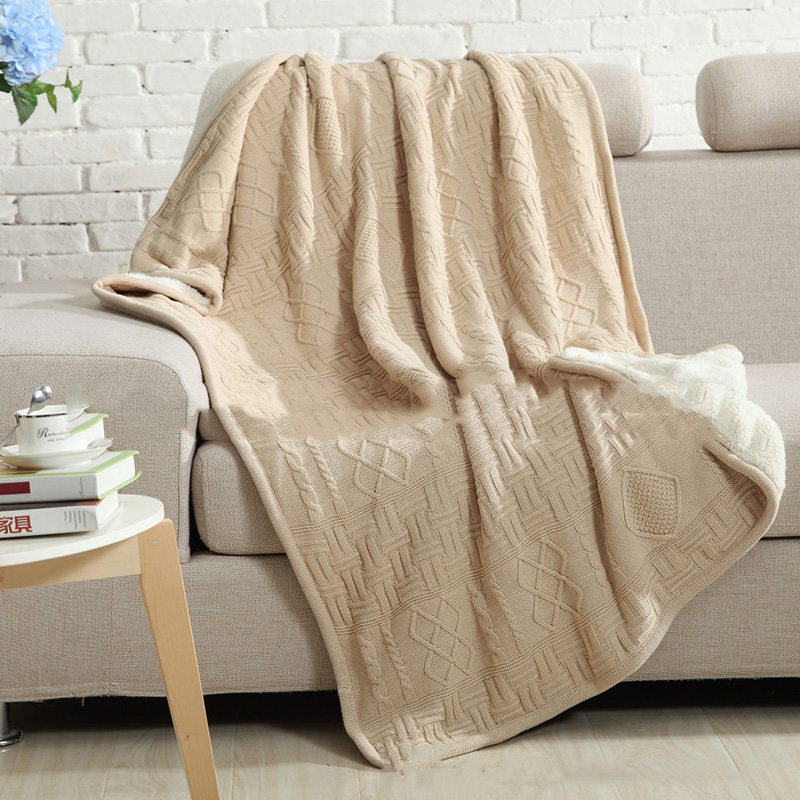 ФОТО New Double knitted blankets Luxury custom models winter Home sofa wool blanket Europe leisure cotton blanket Bedding Wholesale