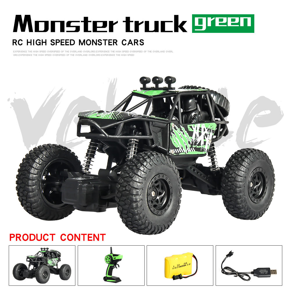 RC Cars 4WD 2.4GHz climbing Car 4x4 Double Motors Bigfoot Car Remote Control Model Off Road Vehicle Toy kids Radio controlled
