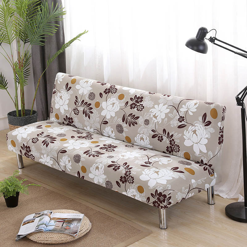 Elastic Sofa Bed Covers Without Armrest Tight Wrap Couch Cover Stretch Flexible Slipcovers Sofa Towel For Home Hotel Banquet