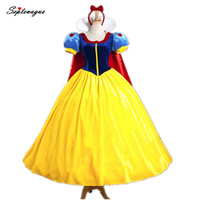 Princess Dress for Adult Disguise Snow White Princess Cospaly Costumes Woman Halloween Role Playing Princess Costume Dress