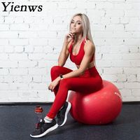 Yienws 2018 Fitness Two Piece Pants Set Women Trac ...