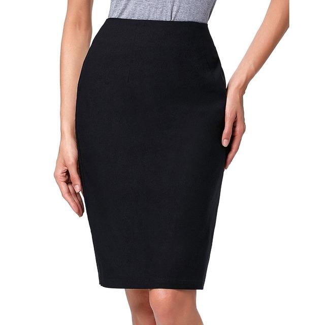 Moda Mujeres Bodycon Midi Saia Falda de Verano 2017 Delgado Lápiz faldas de Cintura Alta Work Office Lady Faldas Jupe Falda Femenina Fladas