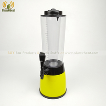 Yellow 2.5 Liters Beer Tower Dispenser with LED Light and Ice Tube BT20
