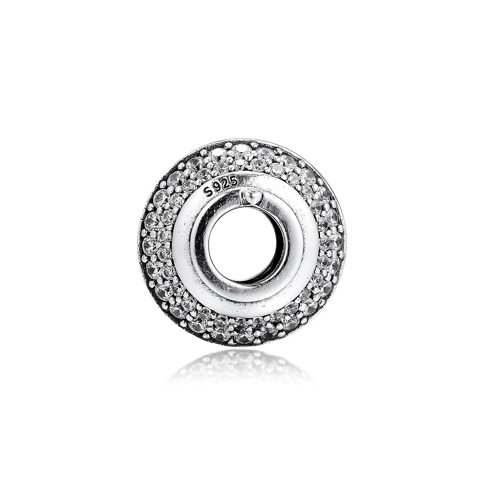 2019 Original 925 Sterling Silver Sparkling Cobblestone Bead charms for jewelry making Fit beads Bracelets DIY Women in Beads from Jewelry Accessories
