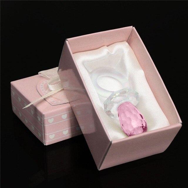 Nova Chupeta Cristal Artificial Pingente Encanto Da Menina do Menino Do Presente Do Partido Baby Shower Batizado Favor Do Casamento Decoração