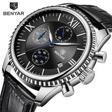 Relogio Masculino BENYAR Mens Watches Top Brand Luxury Waterproof Military Chronograph Sport Quartz Wrist Watch Clock Men 2019