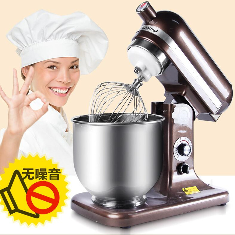 220V 7L Commercial Electric Dough Mixer Egg Milk Milkshake Beater Machine 6 Gear Multifunctional Cook Machine Large Capacity