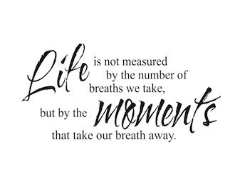 Life Is Not Measured By The Breaths Quote Stunning Wall Sticker Life Is Not Measuredthe Breaths We Take But Wall