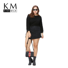 цены Kissmilk Plus Size New Fashion Women Clothing Split Back Lace Insert Tops Backless Long Sleeve Big Size Blouse 3XL 4XL 5XL 6XL