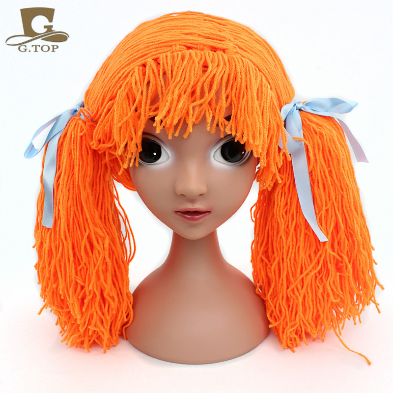 cabbage patch hat orange pigtail wig baby kids hat halloween costumes dorothy costume performance hat on aliexpresscom alibaba group