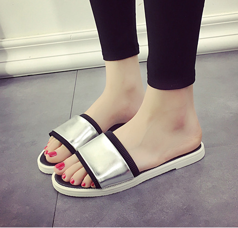 13d3f4e5c7f1ed New Summer Brand Slippers Design Women Flip Flops Pattern PU Rivets Sandals  Home Slippers Casual Slides Playa Beach Shoes 2390-in Slippers from Shoes  on ...