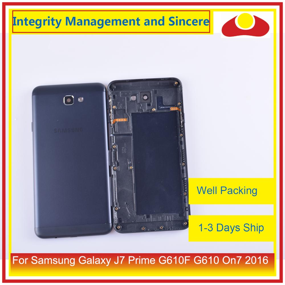 Image 3 - 10Pcs/lot For Samsung Galaxy J7 Prime G610F G610 On7 2016 Housing Battery Door Frame Back Cover Case Chassis Shell-in Mobile Phone Housings & Frames from Cellphones & Telecommunications